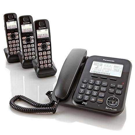 Panasonic Corded-Cordless 4-Handset Phone System