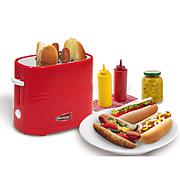 Americana by Elite Hot Dog Toaster - Red