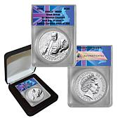 2015 MS69 ANACS FDOI LE 250 20GBP Silver Churchill Coin