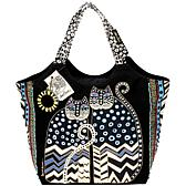 Laurel Burch Large Scoop Tote - Spotted Cats