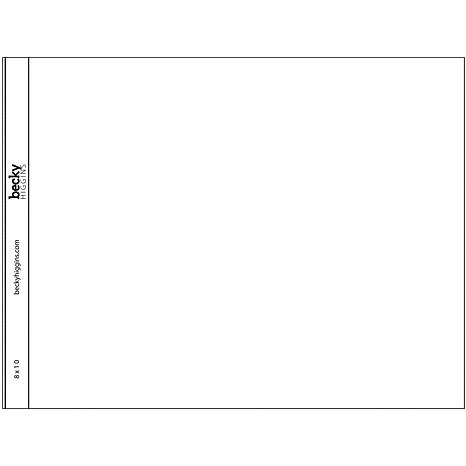 American crafts project life horizontal 8 x 10 page for American crafts page protectors 8x8