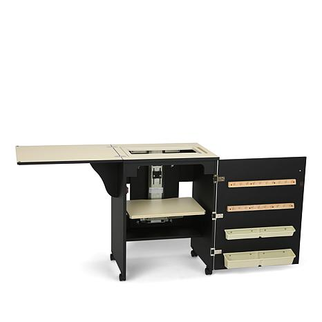 Arrow Compact Airlift Sewing Machine Cabinet - Black
