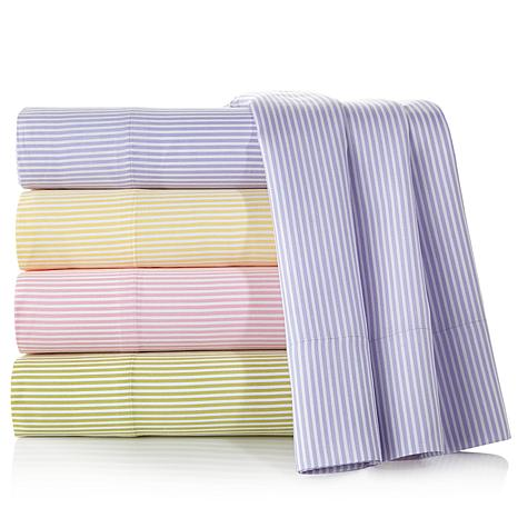 Carleton Varney Gatsby by Newport Striped Sheet Set at HSN.