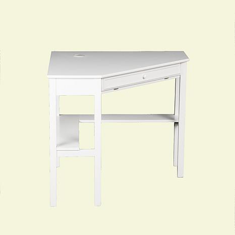 Corner Computer Desk - White - 6221913 | HSN