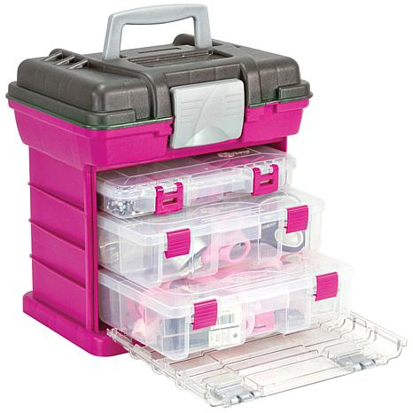 Creative options grab 39 n go 3 by rack system magenta for Kit boite a couture