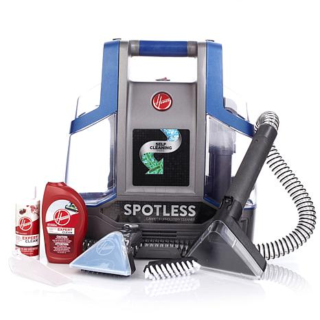 hoover spotless portable spot cleaner with carpet washer and spot treatment det 8252953 hsn. Black Bedroom Furniture Sets. Home Design Ideas