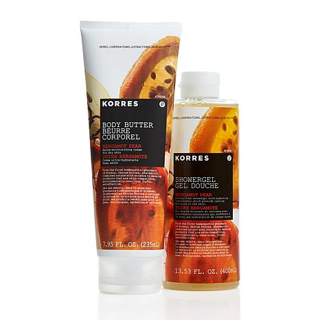 Korres Bergamot Pear Body Butter & Shower Gel