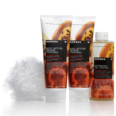 Korres Bergamot Pear Ultra-Hydrating 4-piece Set