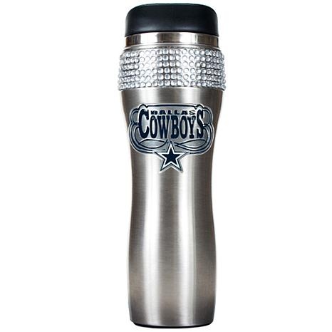 Officially Licensed NFL 14 oz. Stainless Steel Bling Travel Tumbler ... 7b035d44b