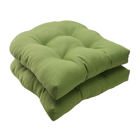 perfect set of 2 forsyth wicker seat cushions green 7529084 hsn
