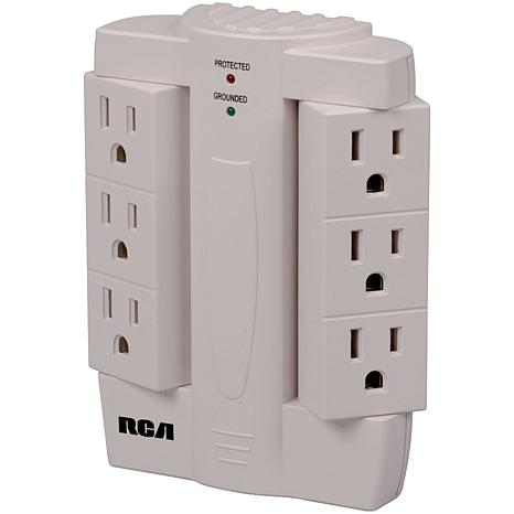 Shop electronics tvs accessories surge protectors rca pswts6 6 outlet