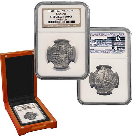 Sao Jose 4 Reales Shipwreck Recovery Silver Coin
