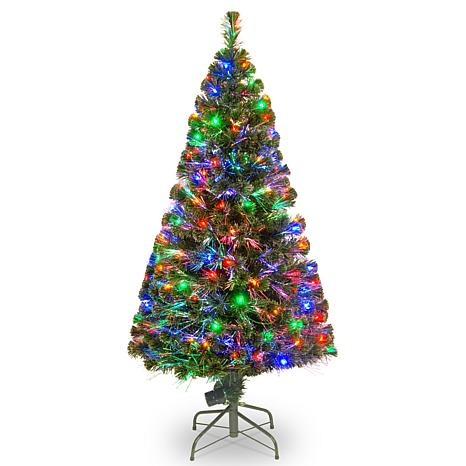 Winter lane 5 crestwood fiber optic evergreen tree with multicolor