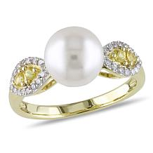10K Yellow Gold 8.5-9mm Cultured Freshwater Pearl Ring