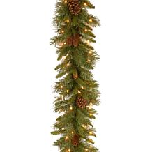 9 ft. Pine Cone Garland with Clear Lights