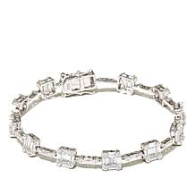 Absolute™ Sterling Silver Baguette and Round Bracelet