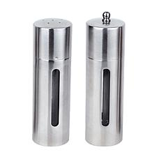"BergHOFF 7"" Stainless Steel Salt and Pepper Mill Set"