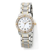 "Bulova ""Highbridge"" Ladies' Round Diamond 2-Tone Watch"