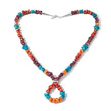 Chaco Canyon Southwest Turquoise/Shell Necklace