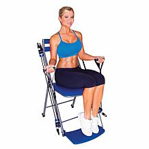 Chair Gym Exercise System with Twister Seat and DVDs