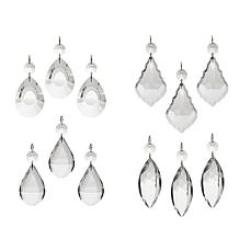 Colin Cowie Faceted Set of 12 Glass Ornaments