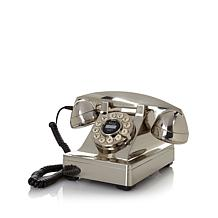 Crosley Chrome Kettle-Style Desk Phone