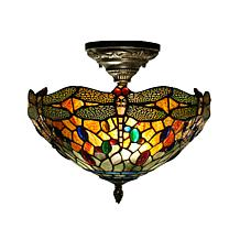 Dale Tiffany Sonota Semi-Flush Ceiling-Mounted Lamp
