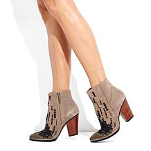 "Donald J Pliner ""Swift"" Suede Beaded Bootie"