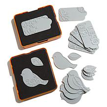 Fiskars Fuse Die and Plate Jumbo Kit - Bird and Tag