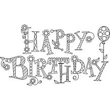 Hampton Art Rubber Stamp - Sparkle Happy Birthday