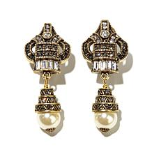 "Heidi Daus ""Heidi Nº 9"" Crystal-Accented Drop Earrings"