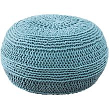 "India Hicks Island Living 14"" x 20"" Aqua Pouf"