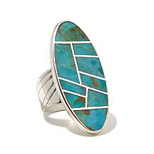 Jay King Elongated Oval Turquoise Inlay Ring