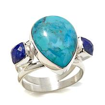 Jay King Iron Mountain Turquoise and Lapis Ring