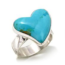 "Jay King Santa Rita Turquoise ""Heart"" Ring"