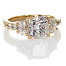 Jean Dousset 3.14ct Absolute™ Cushion-Cut 3-Stone Ring