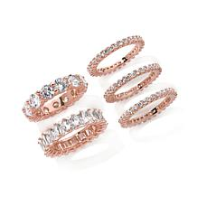 "Joan Boyce ""5 Ways to Fabulous"" Band Ring Set"