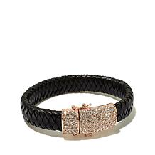 "Joan Boyce ""Braid Me Beautiful"" Pavé Leather Bracelet"