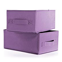 "Joy Mangano 5"" Set of 2 Organization Medium Boxes"