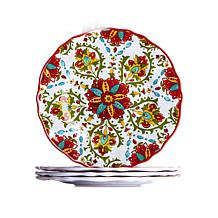 Le Cadeaux Allegra Set of 4 Salad Plates - Red