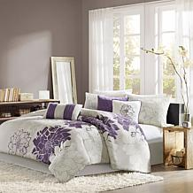 Madison Park Lola Comforter Set Twin - Gray/Purple