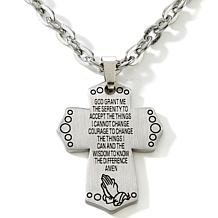 "Michael Anthony Jewelry® Cross Pendant with 22"" Chain"