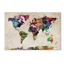 Michael Tompsett 'Urban Watercolor World Map' Print