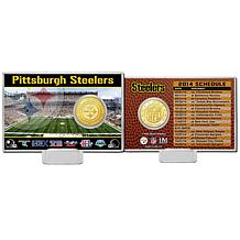 NFL Coin with 2014 Schedule and Acrylic Display Stand