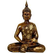 "Oriental Furniture 11"" Thai Sitting Buddha Statue"