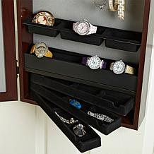 Over-the-Door Jewelry Armoire with Full-Length Mirror