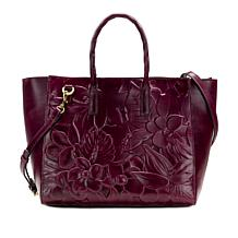 0ee5595b8a Patricia Nash Ribeira Sequined Straw Large Tote with Leather Trim ...