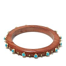 Rarities Turquoise and Vermeil Wood Thin Bracelet