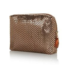 SCA Bronzetone Metallic Mesh Evening Bag