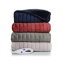 Sft&czy Qlt Mink Heated Throw Navy